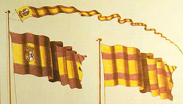 Bandera española ganadora